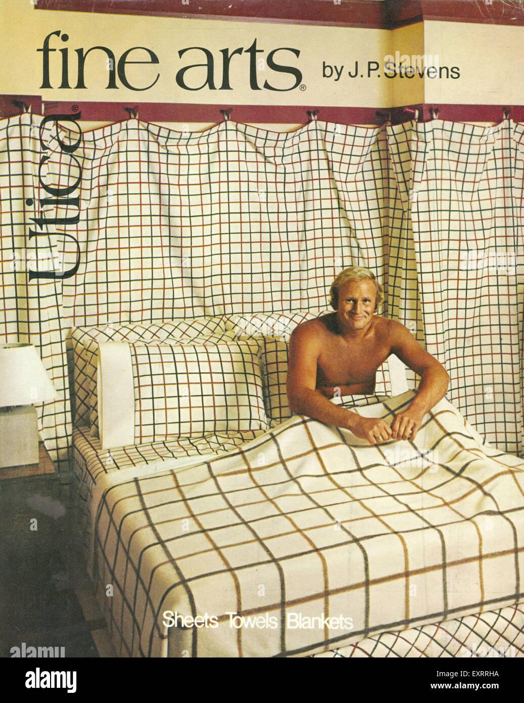 1970S UK Belle Arti Utica Magazine annuncio pubblicitario Immagini Stock