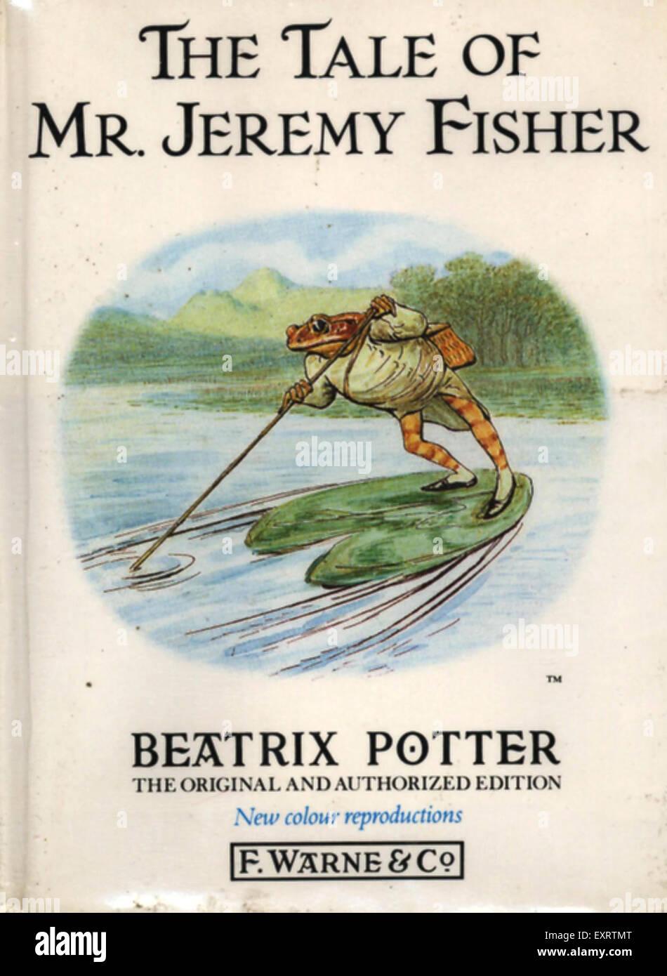 1970S UK il racconto del signor Jeremy Fisher a Beatrix Potter per la copertina del libro Immagini Stock