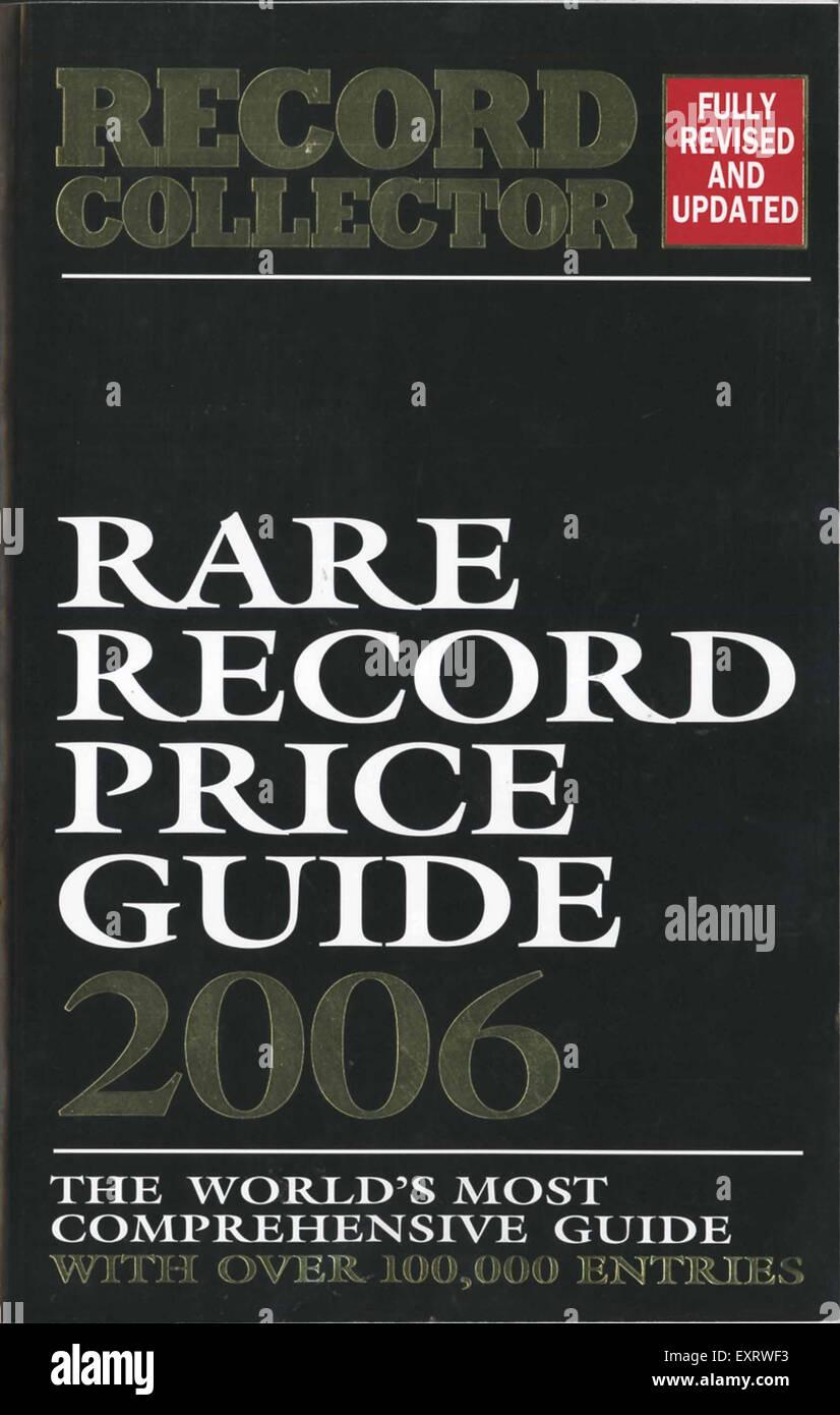 2000S UK dischi rari prezzo guida per la copertina del libro Immagini Stock