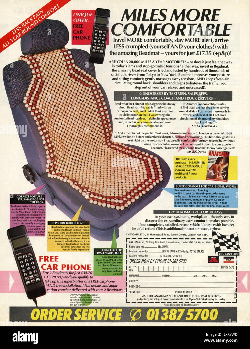 Anni ottanta UK Anatomia Magazine annuncio pubblicitario Immagini Stock