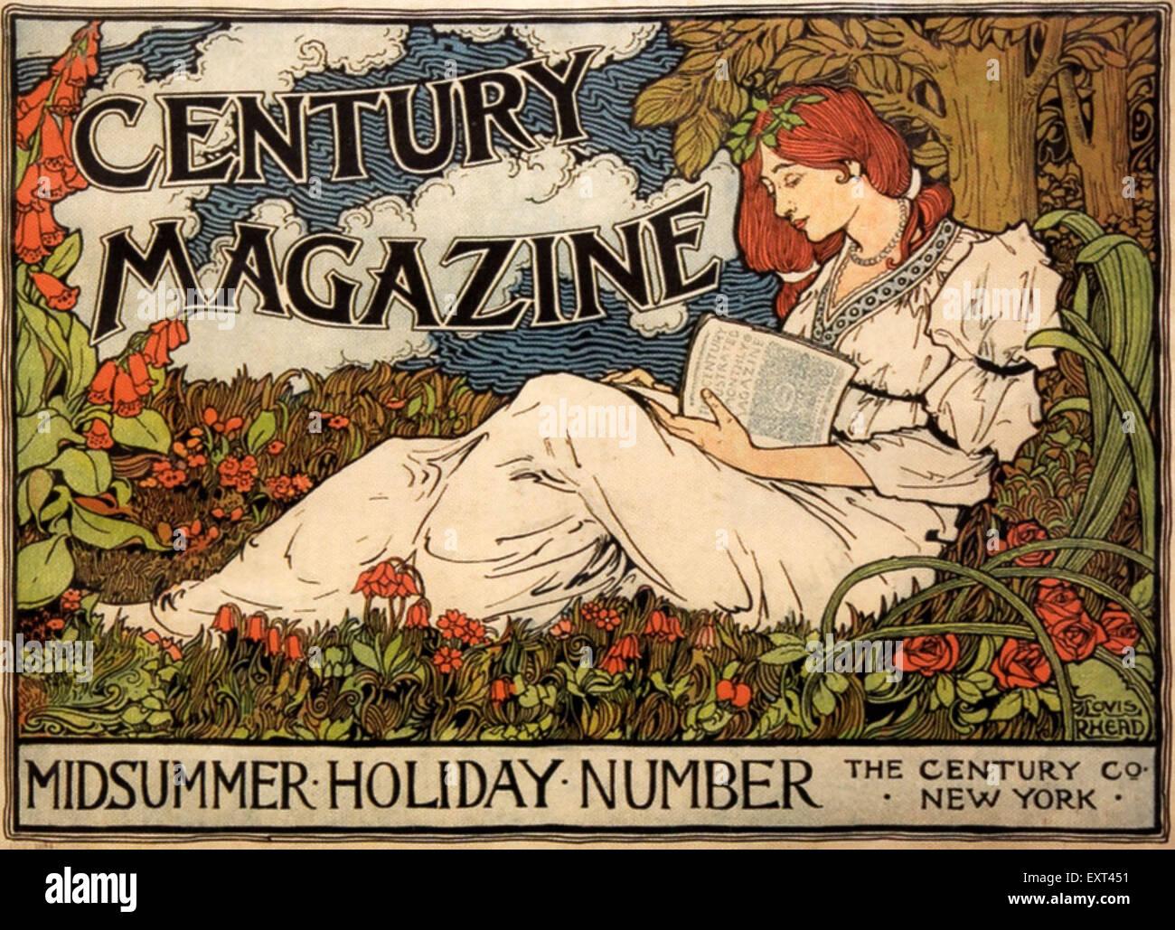 1890 USA Il Secolo Magazine annuncio pubblicitario Immagini Stock