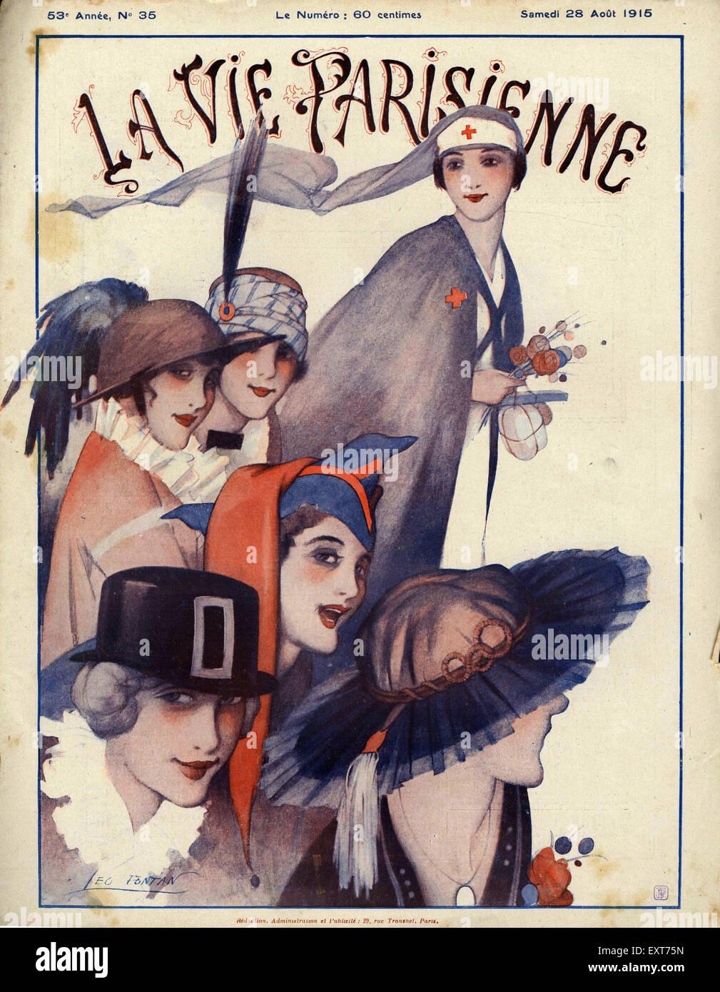1910s Francia La Vie Parisienne Copertina Foto & Immagine Stock: 85355025 - Alamy