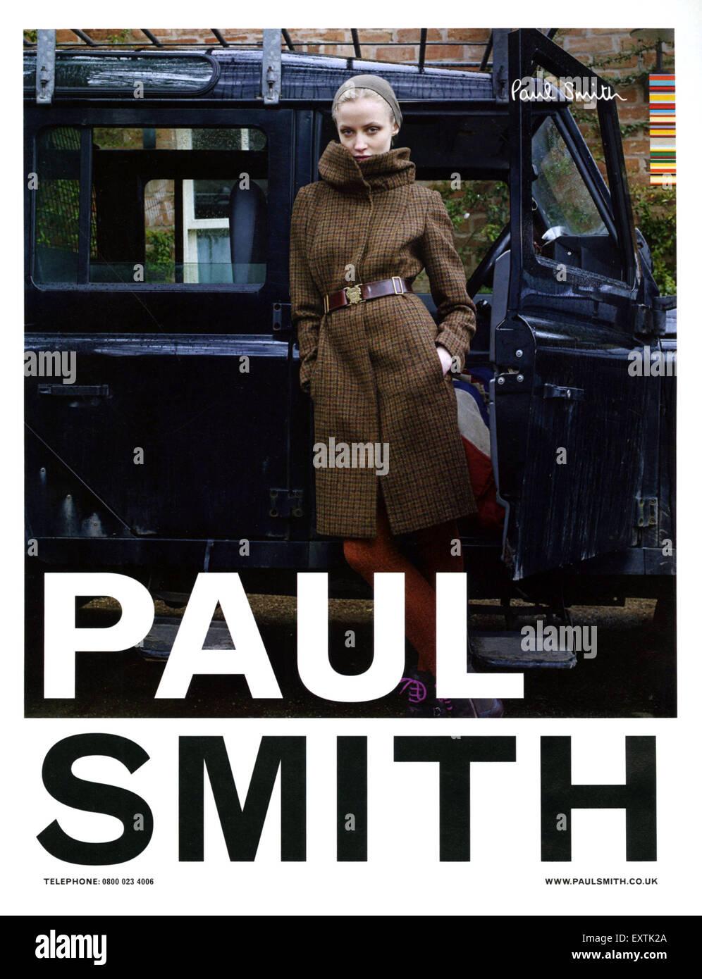 2010S UK Paul Smith Magazine annuncio pubblicitario Immagini Stock