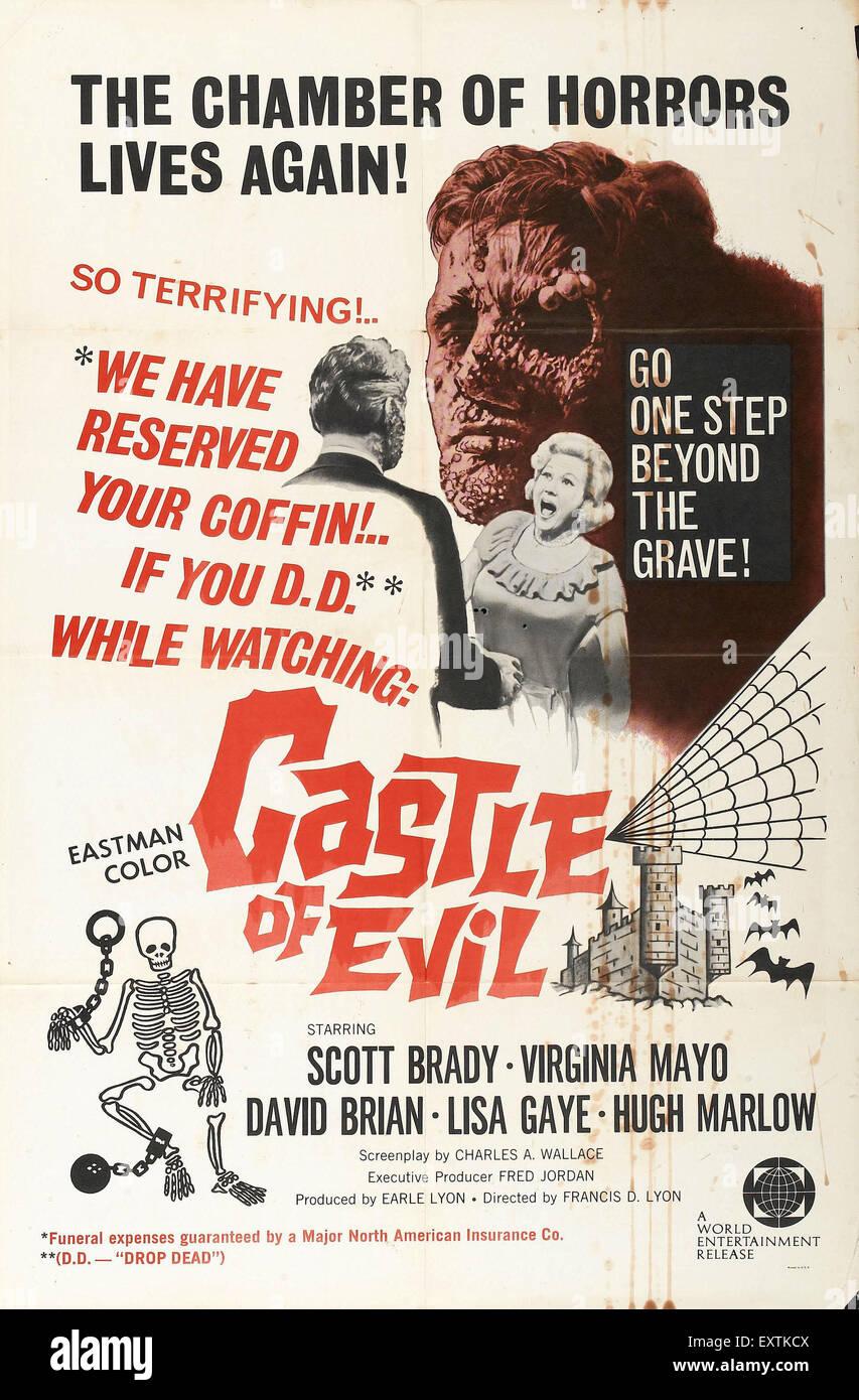 Anni sessanta STATI UNITI D'AMERICA Castello di male poster del film Immagini Stock