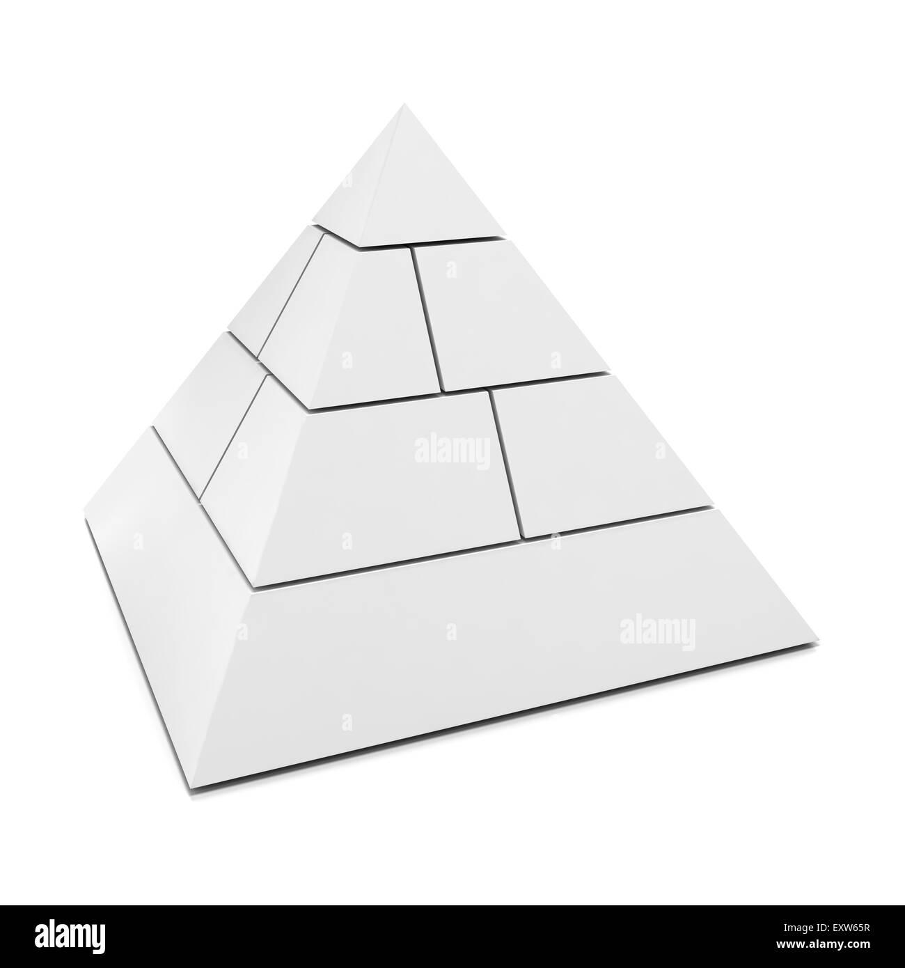 Blank Piramide a 3d Immagini Stock