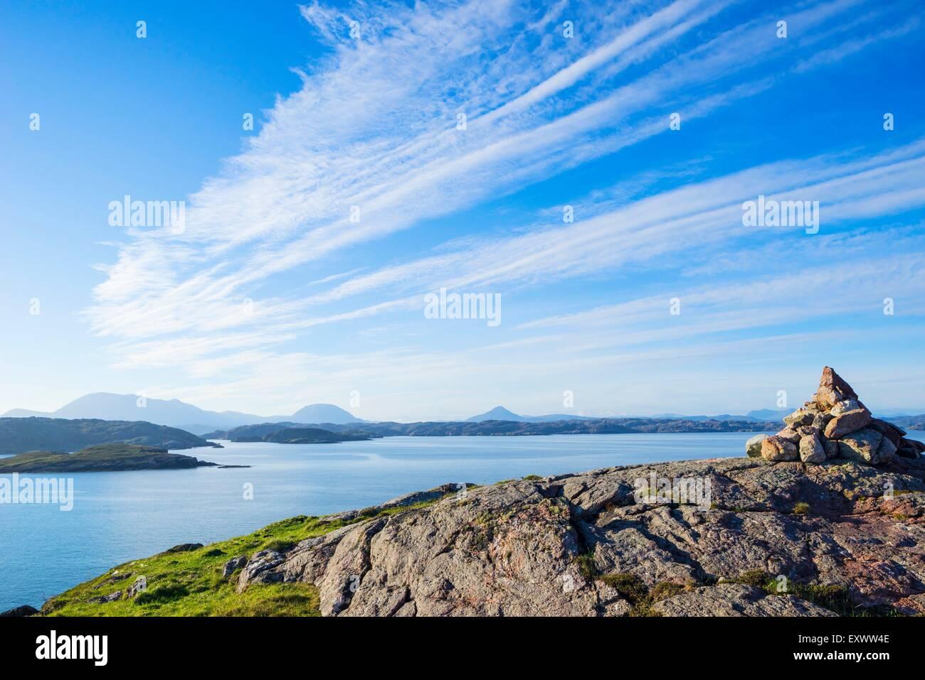 Nothwestern costa della Scozia a Kinlochbervie Foto Stock
