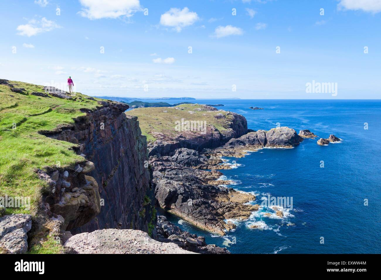Sulla costa nord-occidentale della Scozia a Kinlochbervie Foto Stock