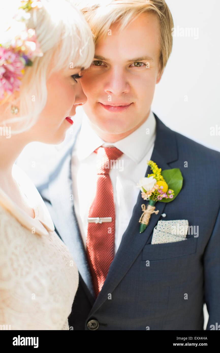 Ritratto di sposa giovane Immagini Stock