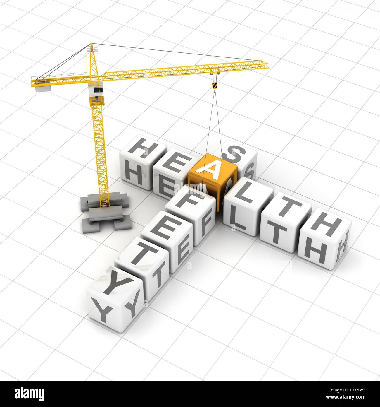 La salute e il concetto di sicurezza Foto Stock