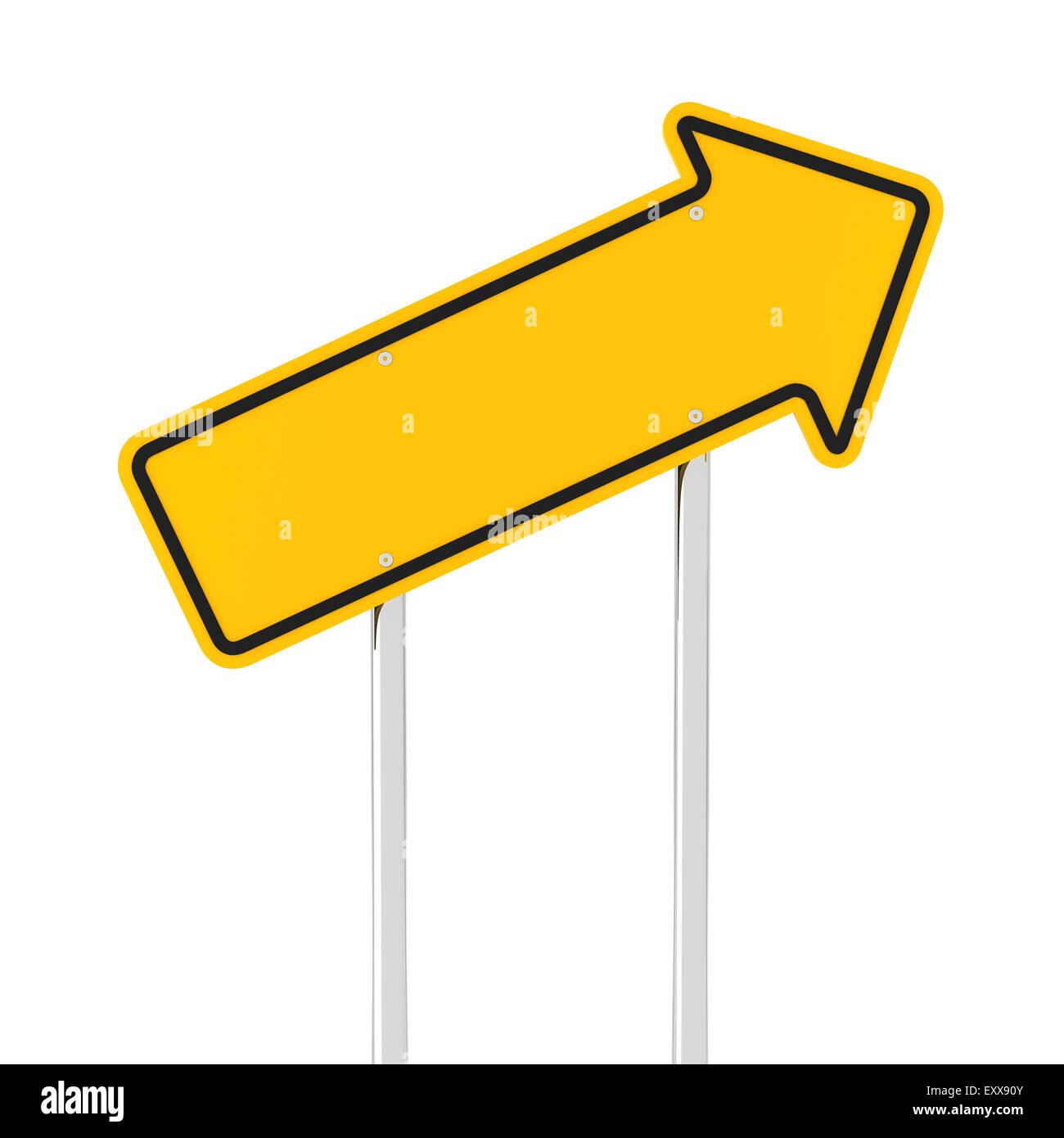 Freccia ascendente cartello stradale Immagini Stock