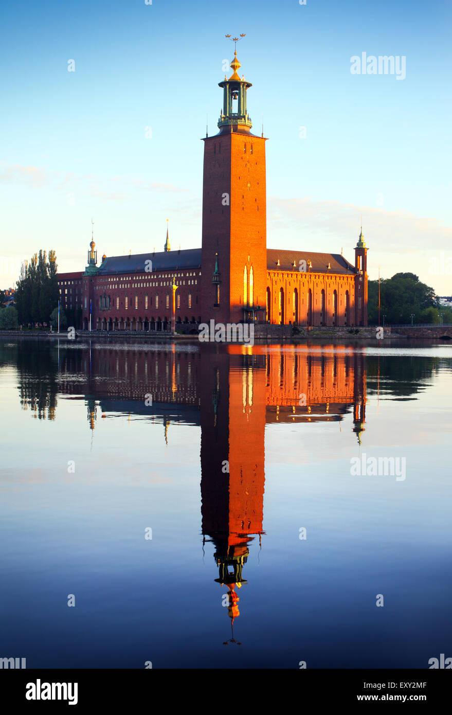Il municipio di Stoccolma Immagini Stock