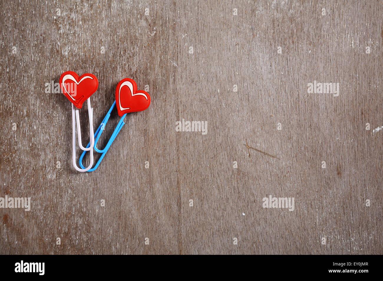 Clip a forma di cuore, il giorno di san valentino Immagini Stock