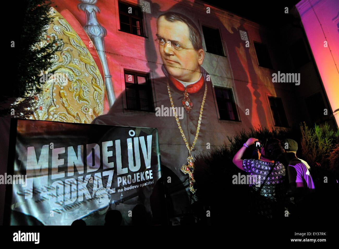 Centocinquantesimo anniversario di Gregor Mendel lezioni è stato commemorato da spettacolo audiovisivo da Drew Immagini Stock