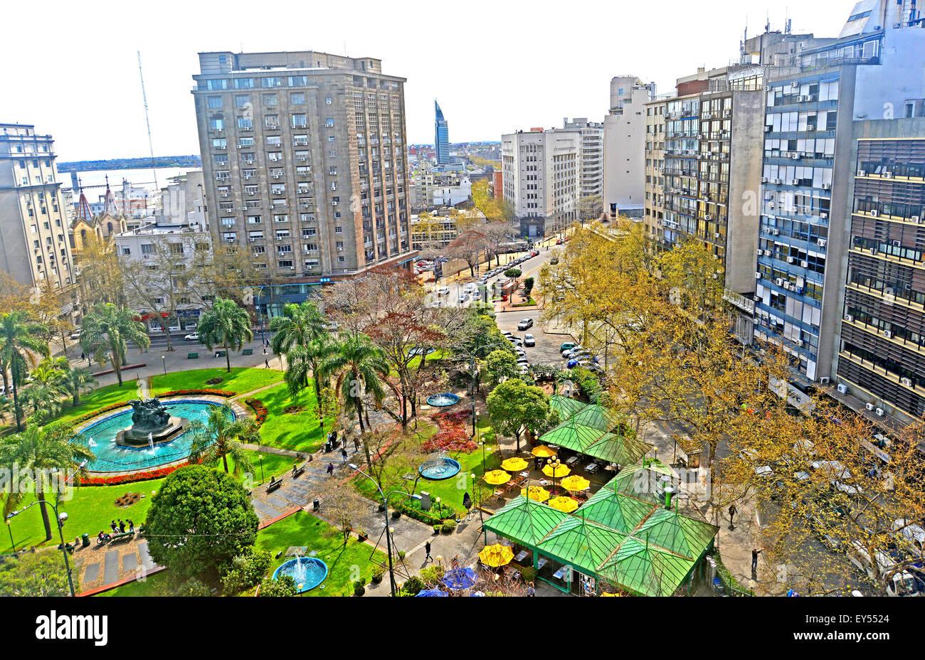 Plaza Fabini Montevideo Uruguay Immagini Stock