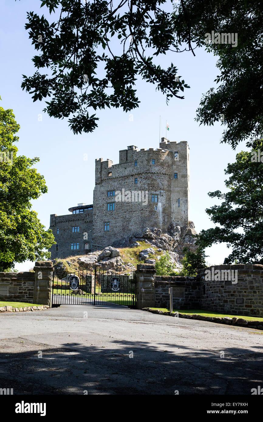 Roch castello del XII secolo il castello restaurato, situato nei pressi di Haverfordwest, Galles. Immagini Stock