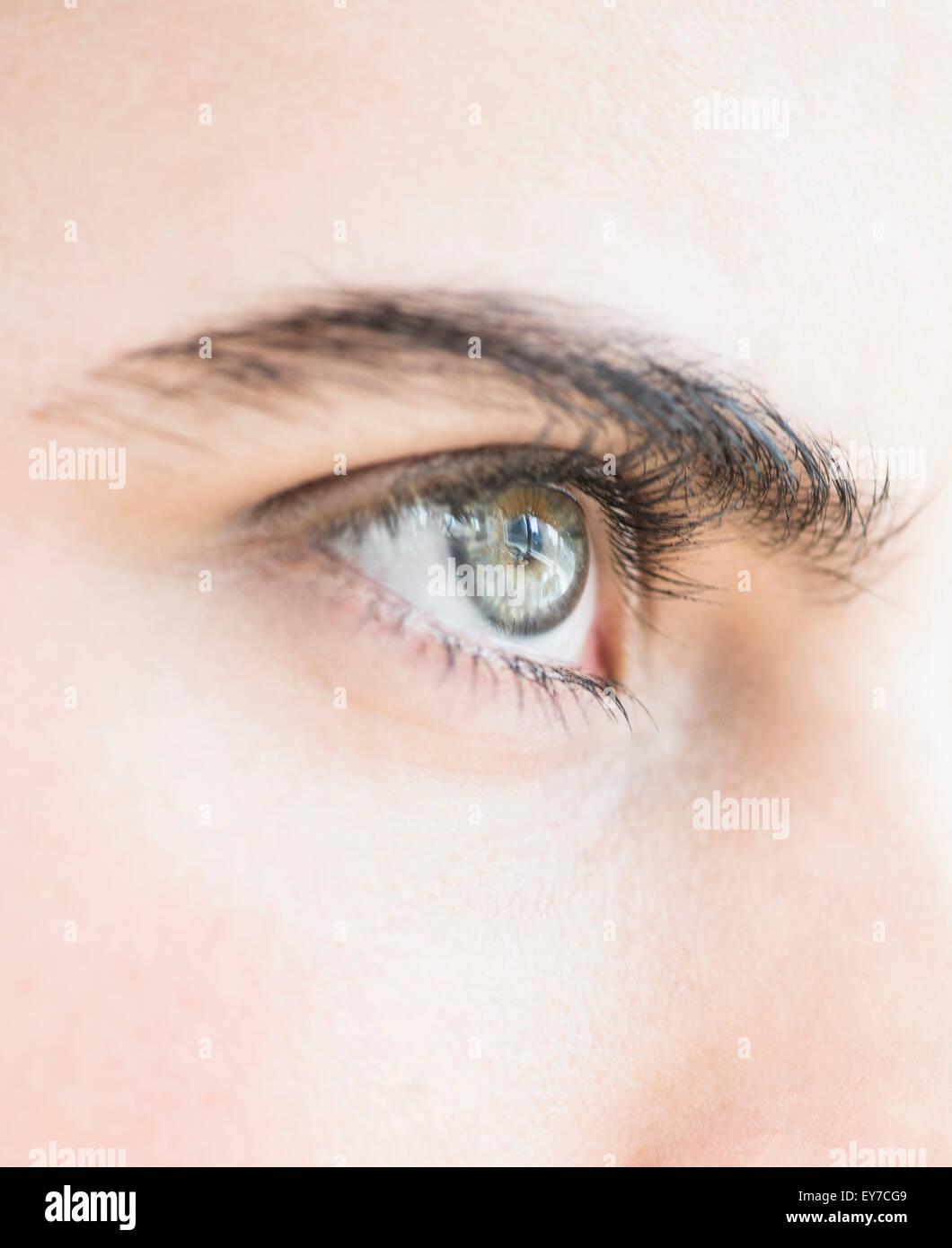 Close-up di blue eye Immagini Stock