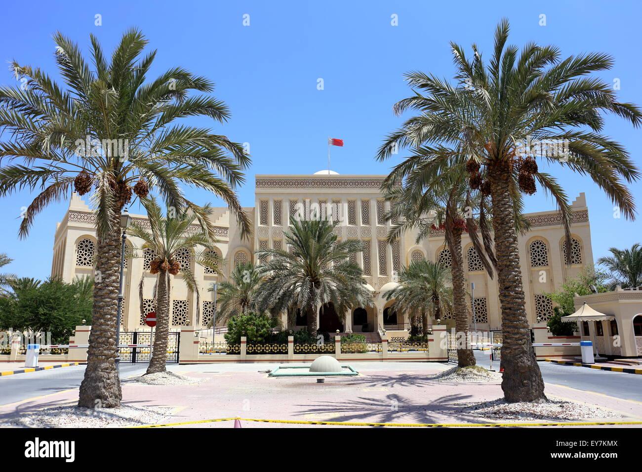 Biblioteca al Al-Fatih (grande), la Moschea di Juffair, Regno del Bahrein Immagini Stock
