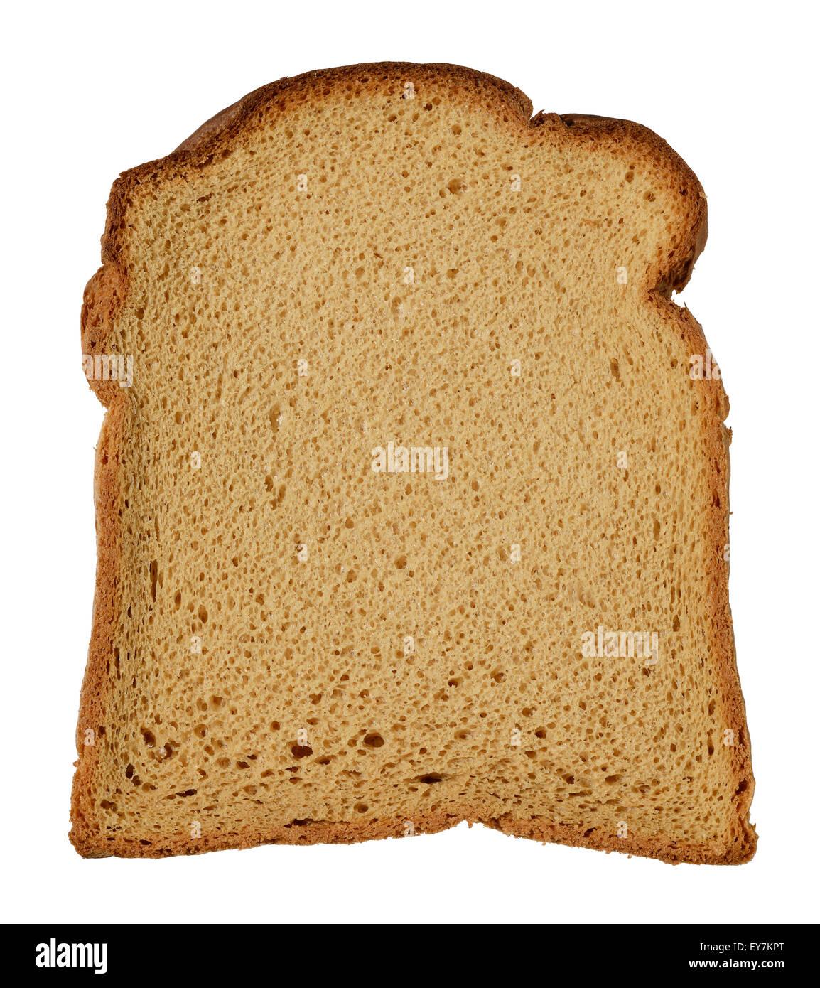 Una fetta di glutine di frumento caseificio libero libero pane marrone Immagini Stock
