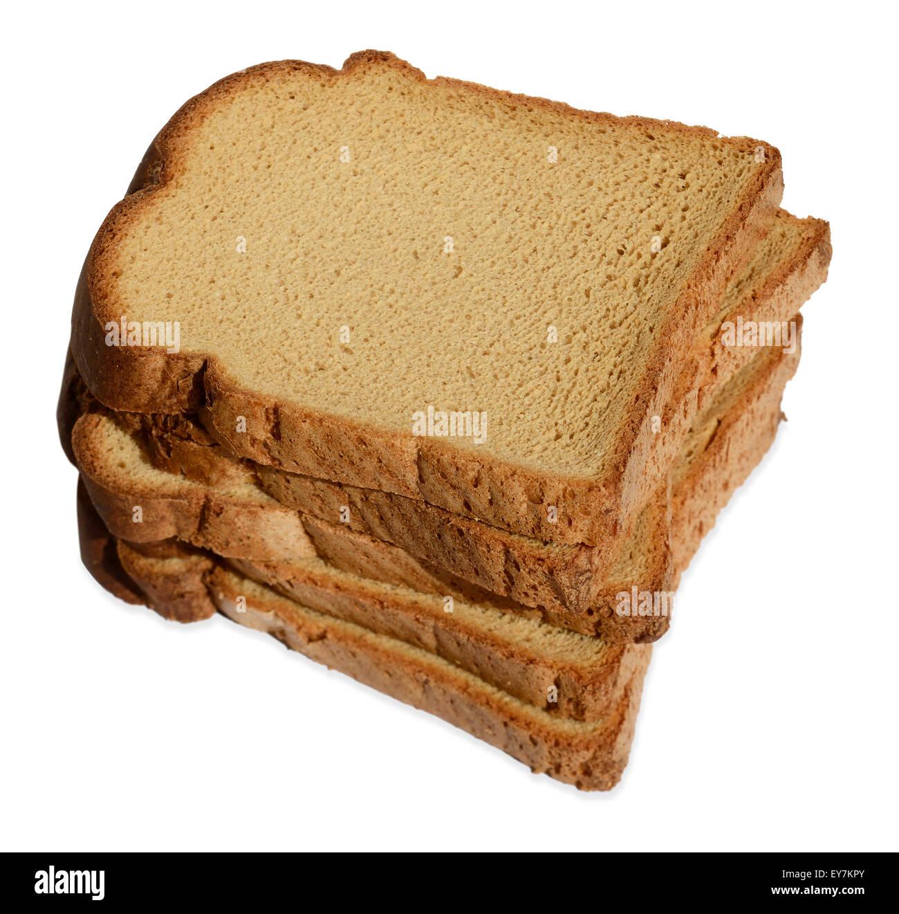 Fette di glutine di frumento caseificio libero libero pane marrone Immagini Stock