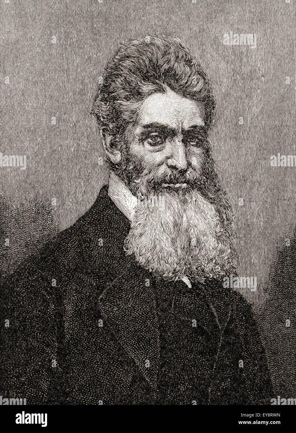 John Brown, 1800 - 1859. Bianco abolizionista americano. Foto Stock
