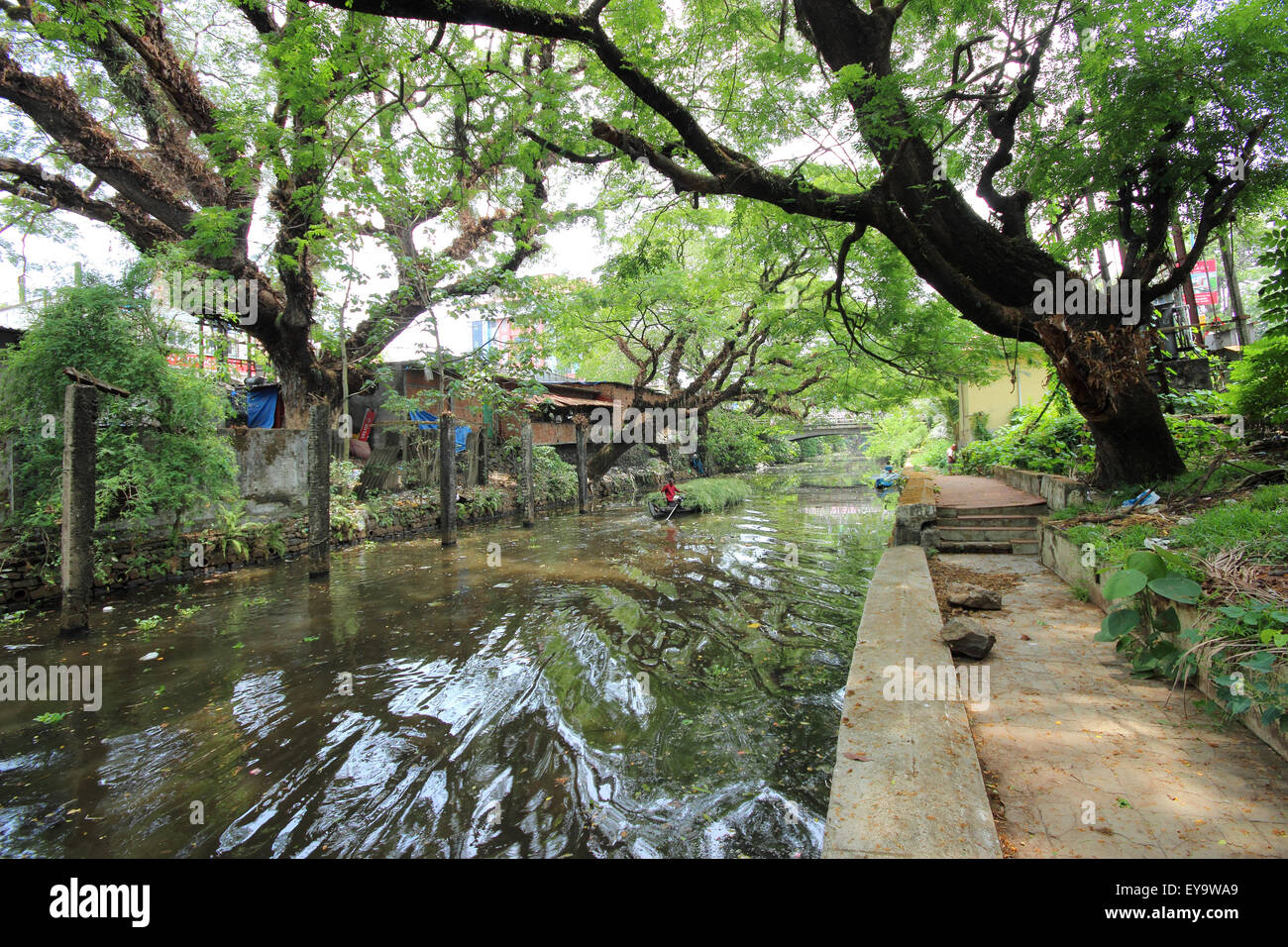 Alleppey, Kerala, India Immagini Stock