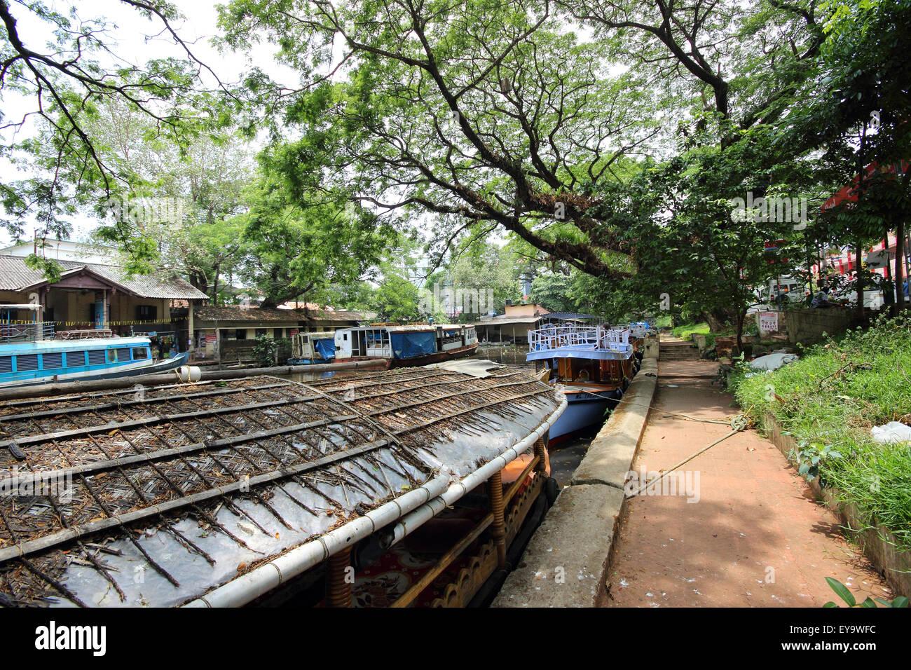 Barche, Alleppey, Kerala, India Immagini Stock