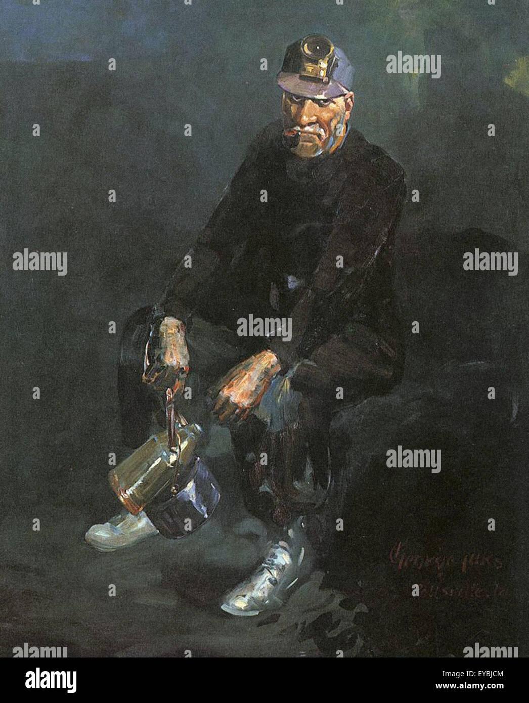 George Luks il minatore Immagini Stock