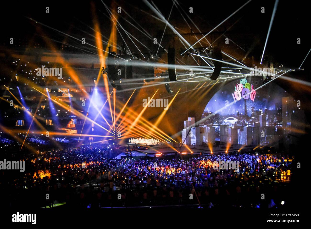 Toronto, Ontario, Canada. 26 Luglio, 2015. Giochi Panamericani 2015 chiuso stasera a Rogers Centre con grande performance Immagini Stock