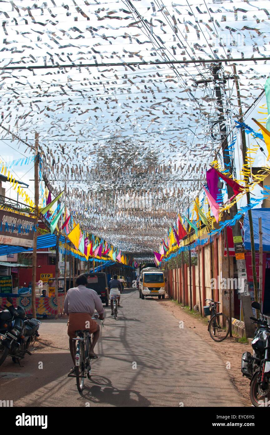 Decorazione per Templefestival, Alleppey, Kerala, India del Sud, Asia Immagini Stock