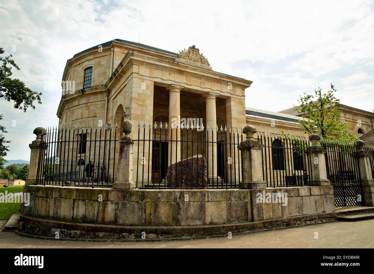 Casa de Juntas, casa dell'Archivio Storico del Paese Basco, Gernika-Lumo, Paesi Baschi Immagini Stock