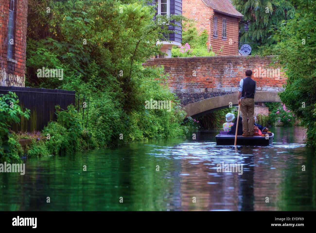 Canterbury, Stour, Kent, England, Regno Unito Immagini Stock