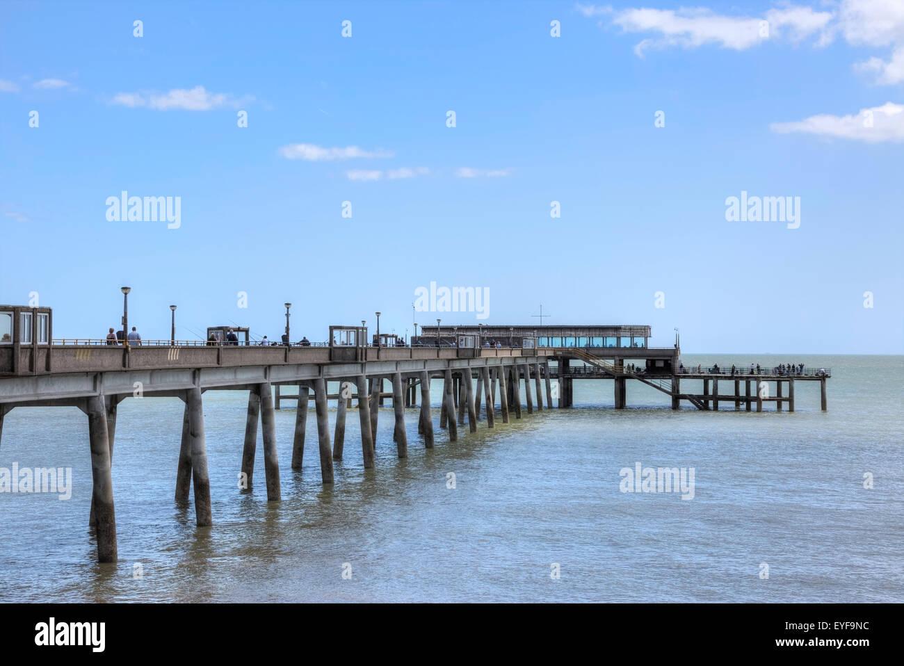 Trattare Pier, trattare, Kent, England, Regno Unito Immagini Stock