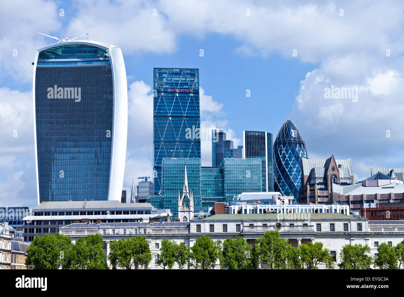La città di Londra, distretto di banche e assicurazioni in ...