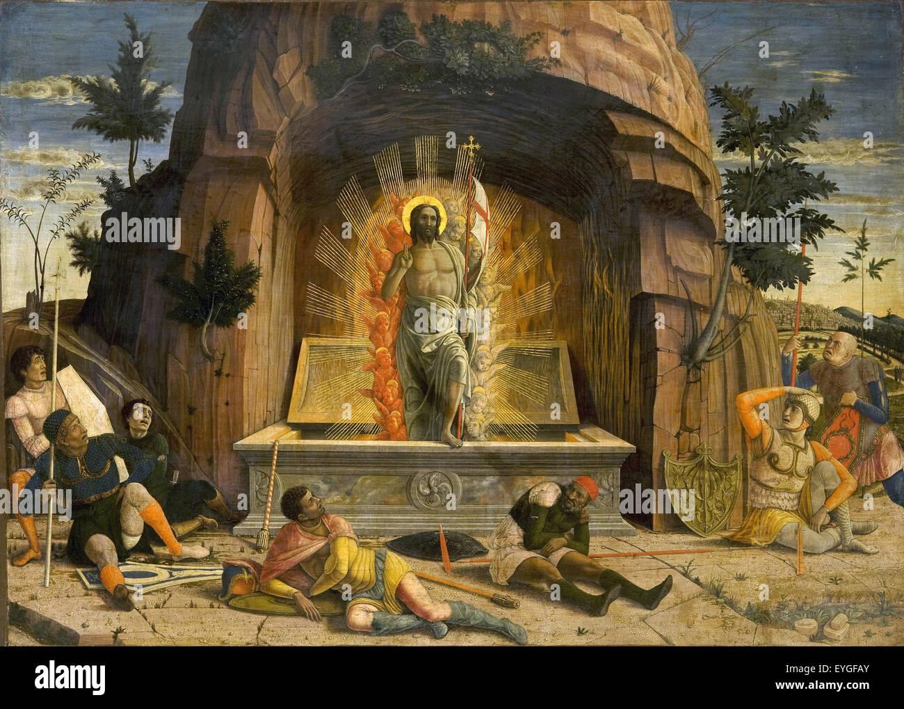Andrea Mantegna - La risurrezione - XV secolo - Italiano Immagini Stock