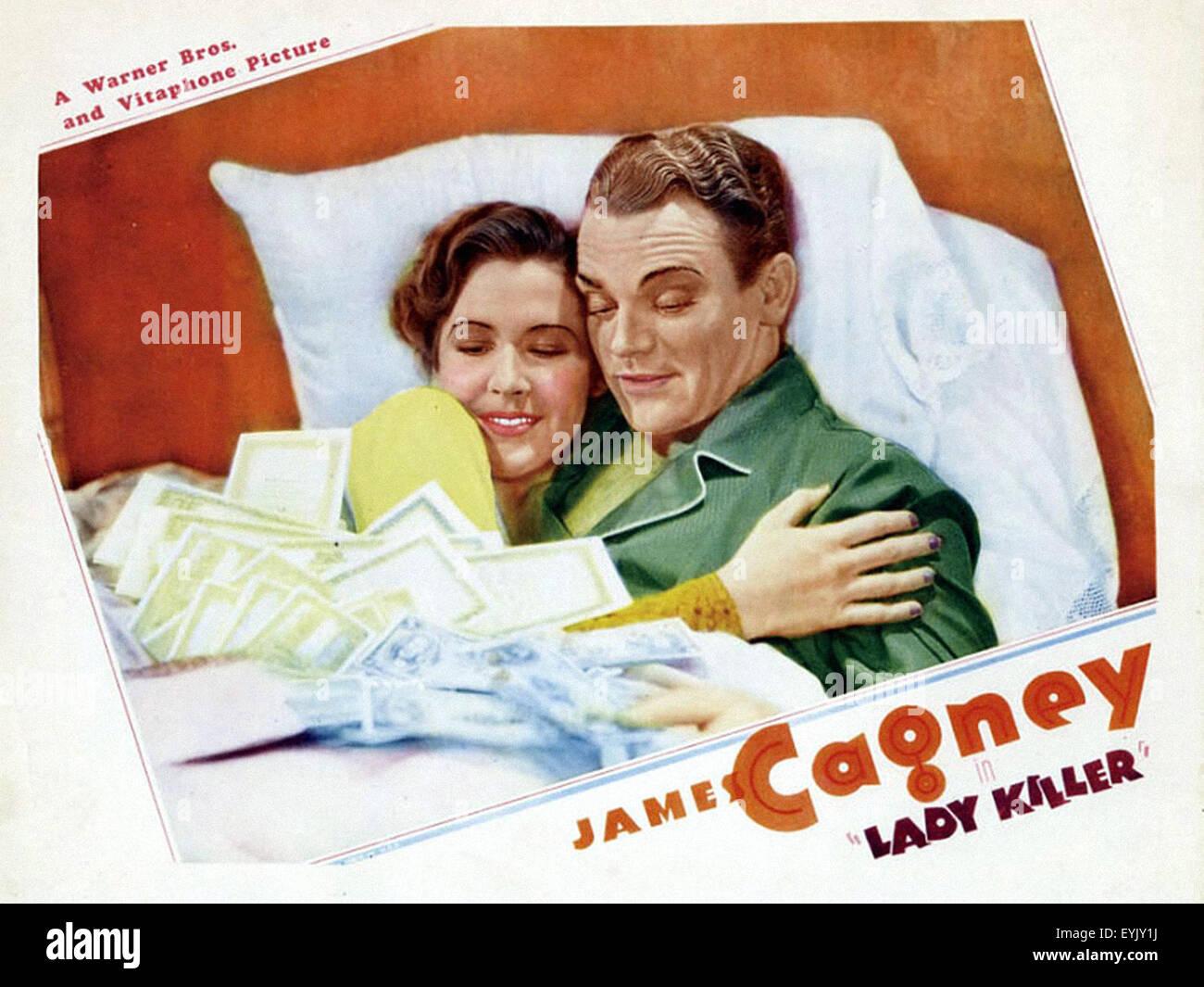 Lady Killer - James Cagney - poster del filmato Immagini Stock
