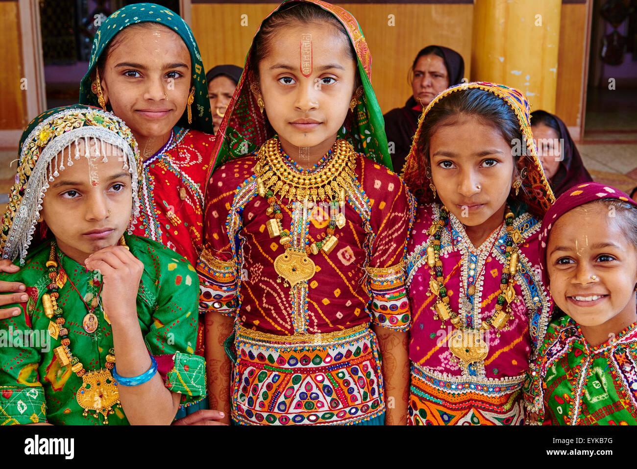 India, Gujarat, Kutch, Padhar village, Ahir gruppo etnico Immagini Stock