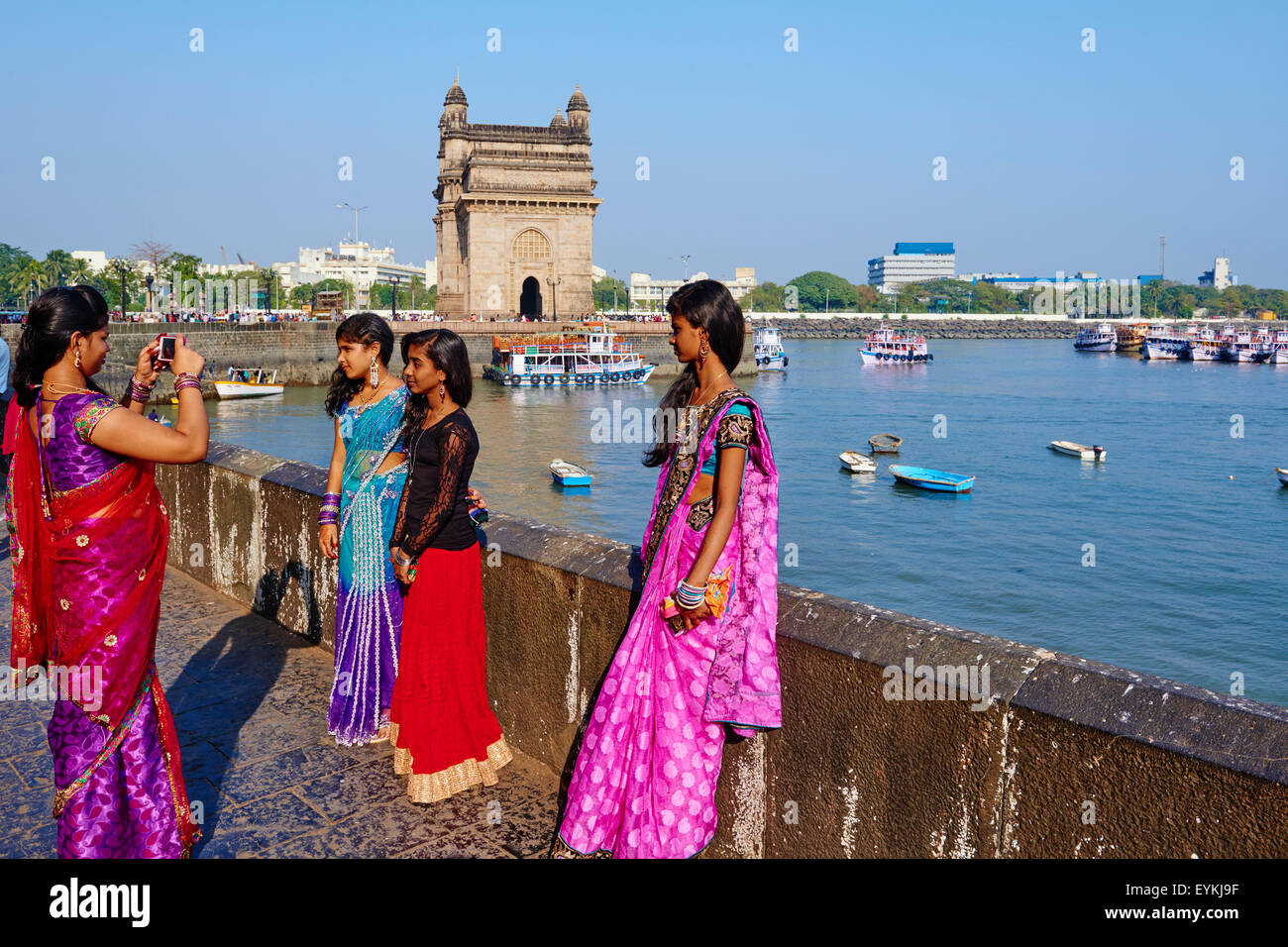 India Maharashtra, Mumbai (Bombay), il Gateway dell'India Immagini Stock