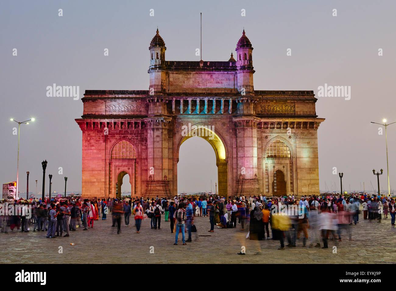 India Maharashtra, Mumbai (Bombay), il Gateway dell'India Immagini Stock