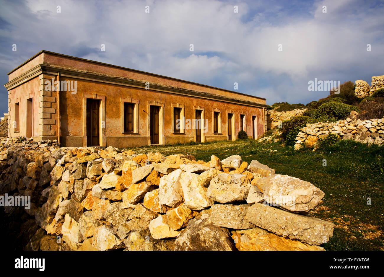 Impressione sull'isola di Levanzo, isole Ägadische, Italia, Immagini Stock