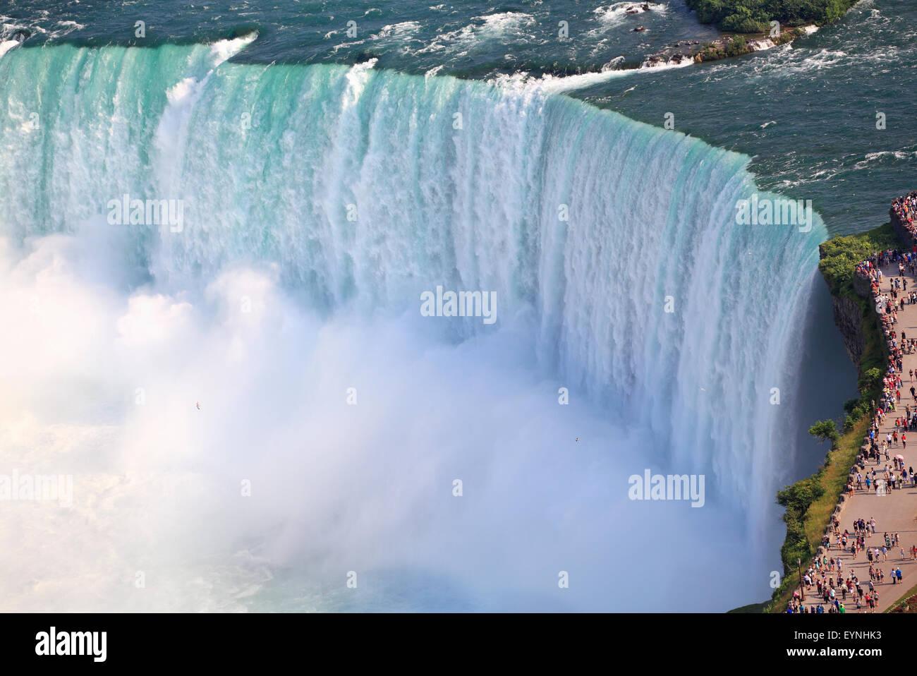 Cascate del Niagara, vista aerea, Canada Immagini Stock