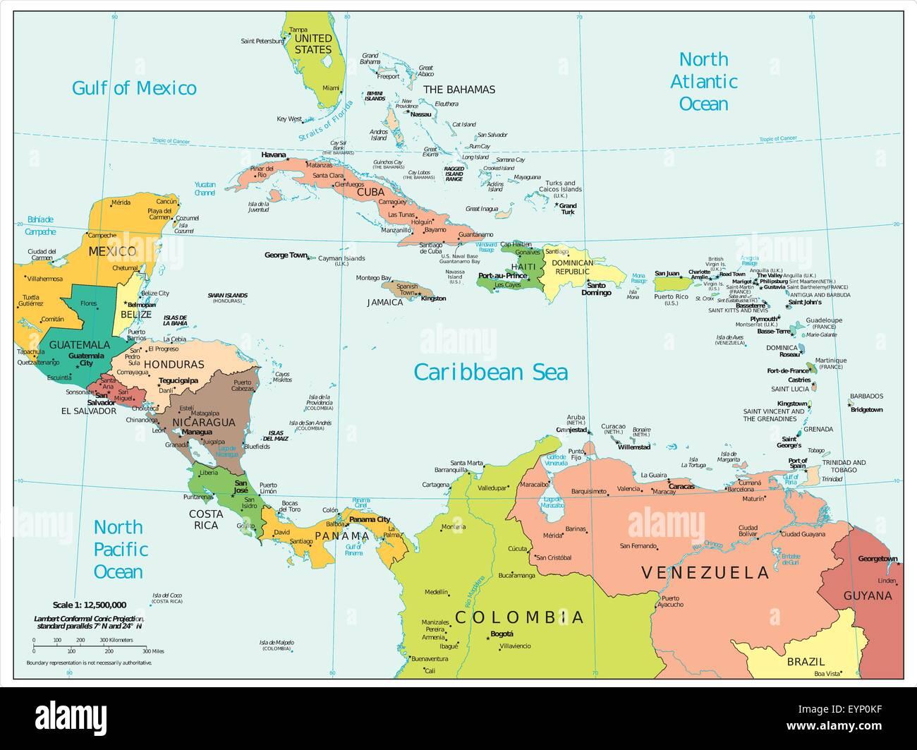 Cartina Politica Centro America.Mappa Del Centro America Immagini E Fotos Stock Alamy