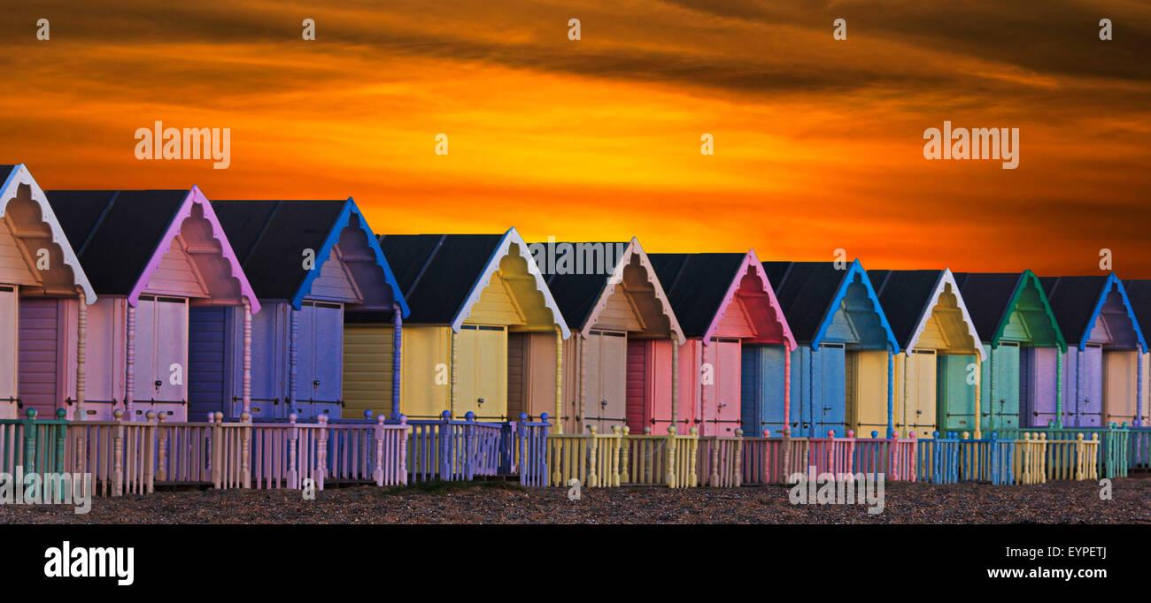 Capanne di spiaggia Immagini Stock