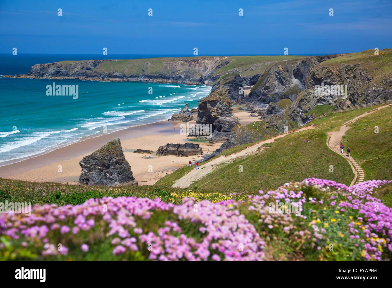 Tregurrian, Newquay, Cornwall, England, Regno Unito, Europa Foto Stock