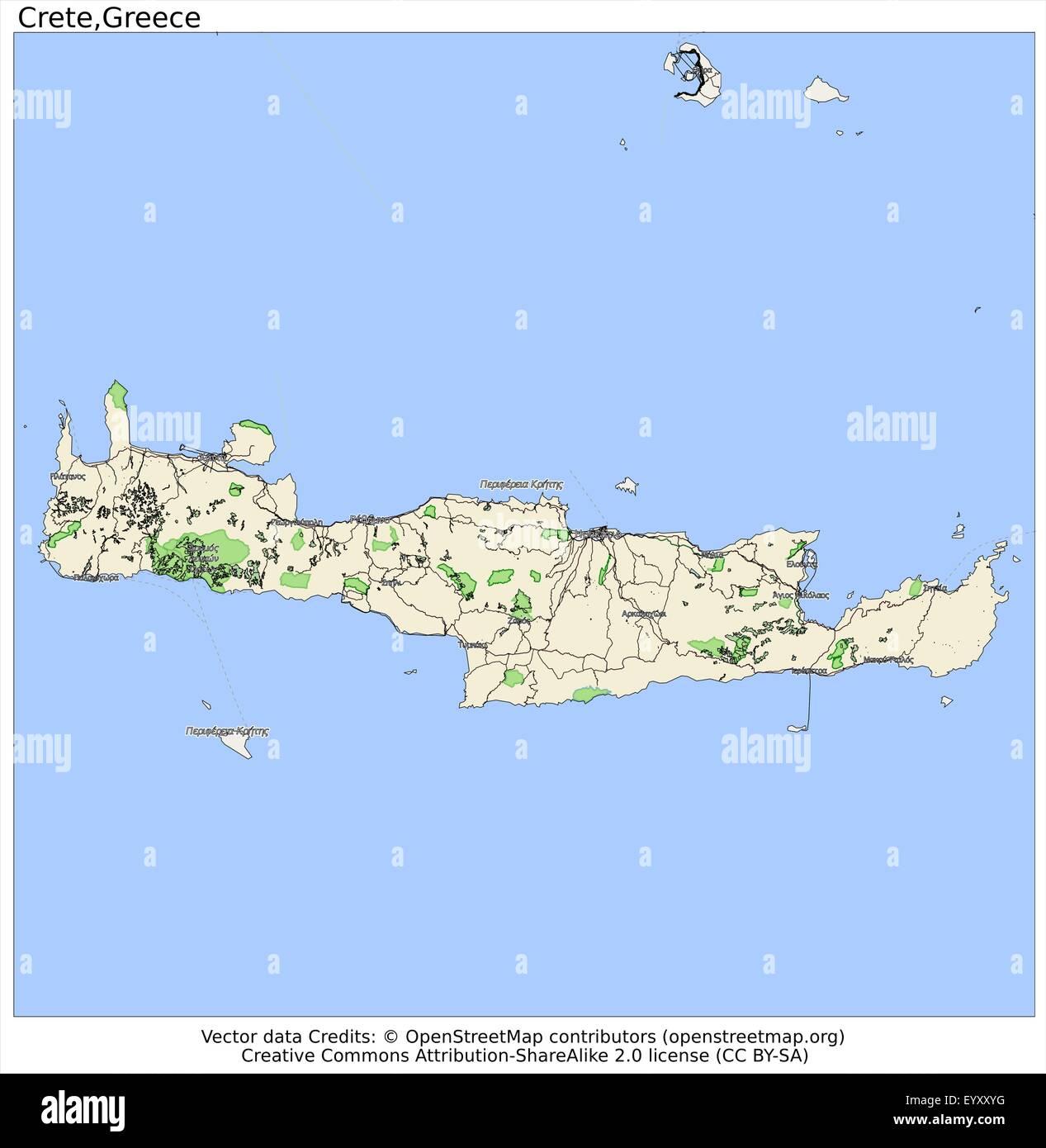 Cartina Geografica Dell Isola Di Creta.Creta Grecia Paese Isola Citta Membro Ubicazione Sulla Mappa Immagine E Vettoriale Alamy