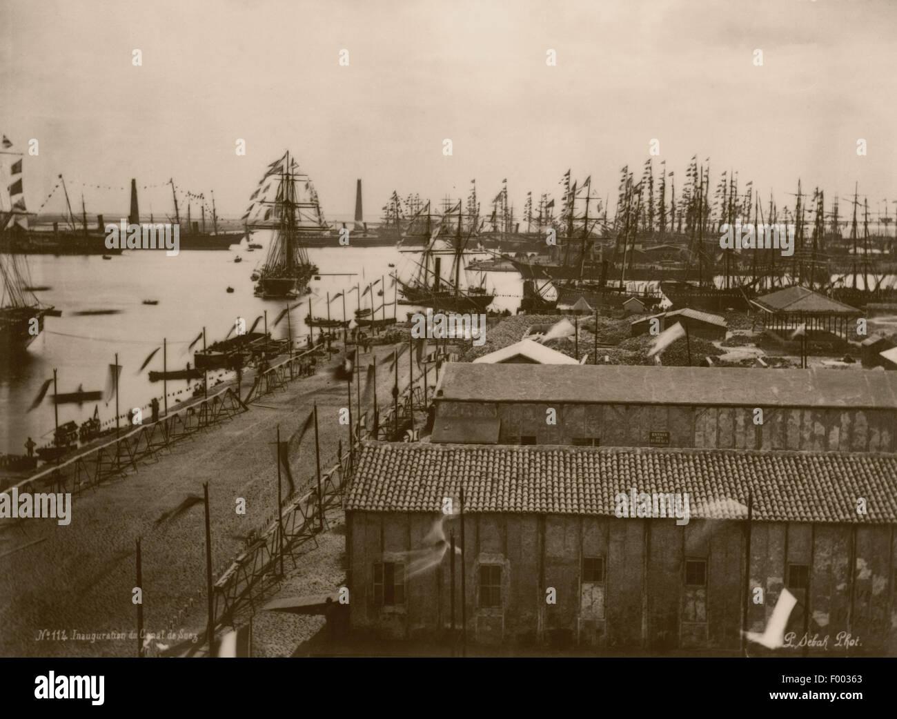 Port said egitto 1869 tenuto dieci anni per costruire for Costo per costruire un ranch