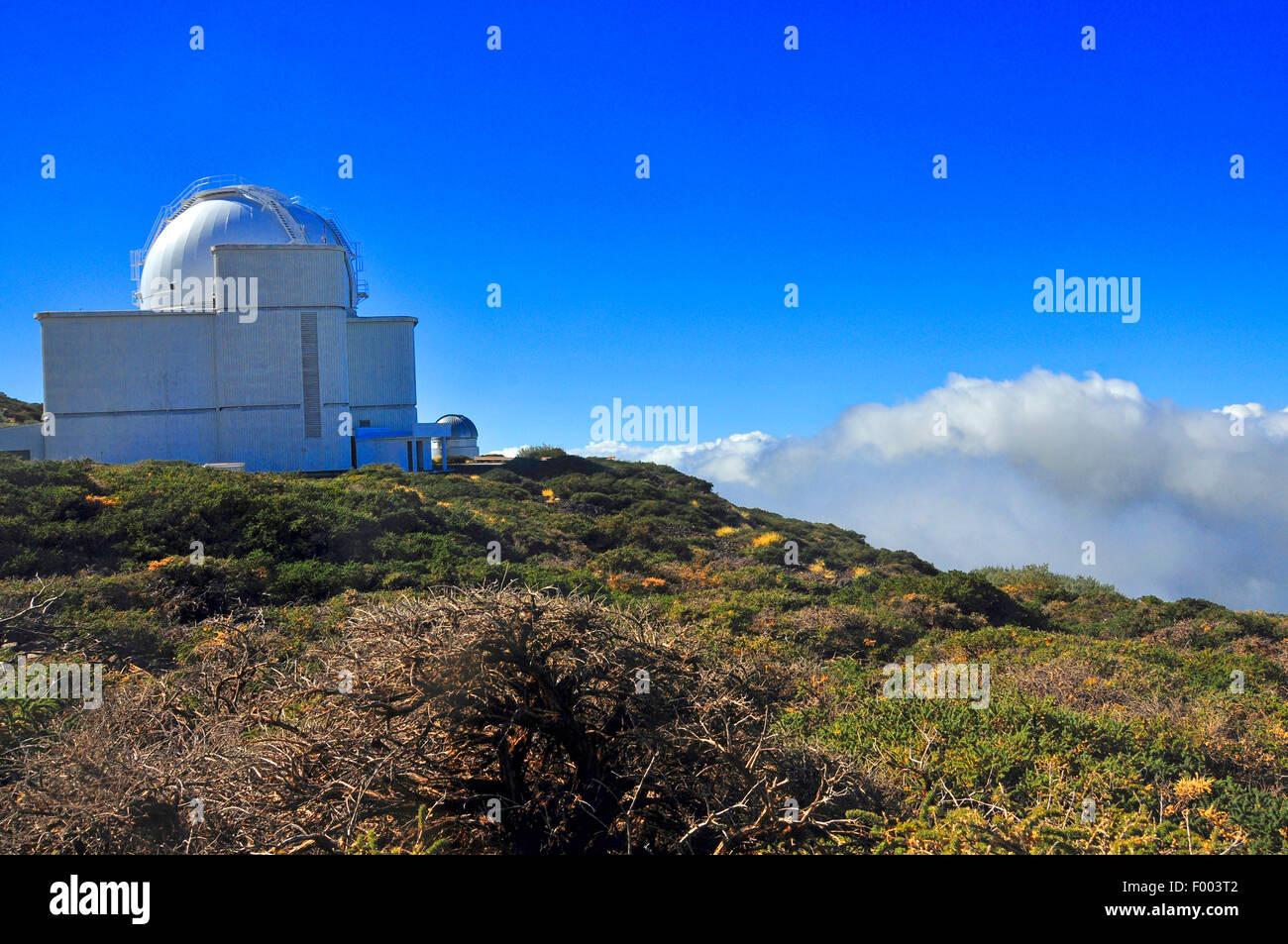 Osservatorio di Roque de los Muchachos, Isole Canarie La Palma Immagini Stock