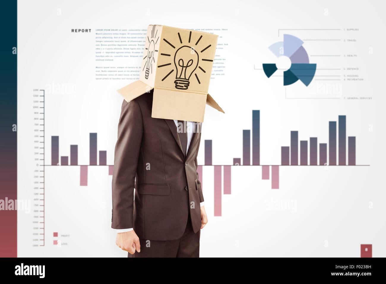 Immagine composita di anonimo imprenditore con le mani verso il basso Immagini Stock