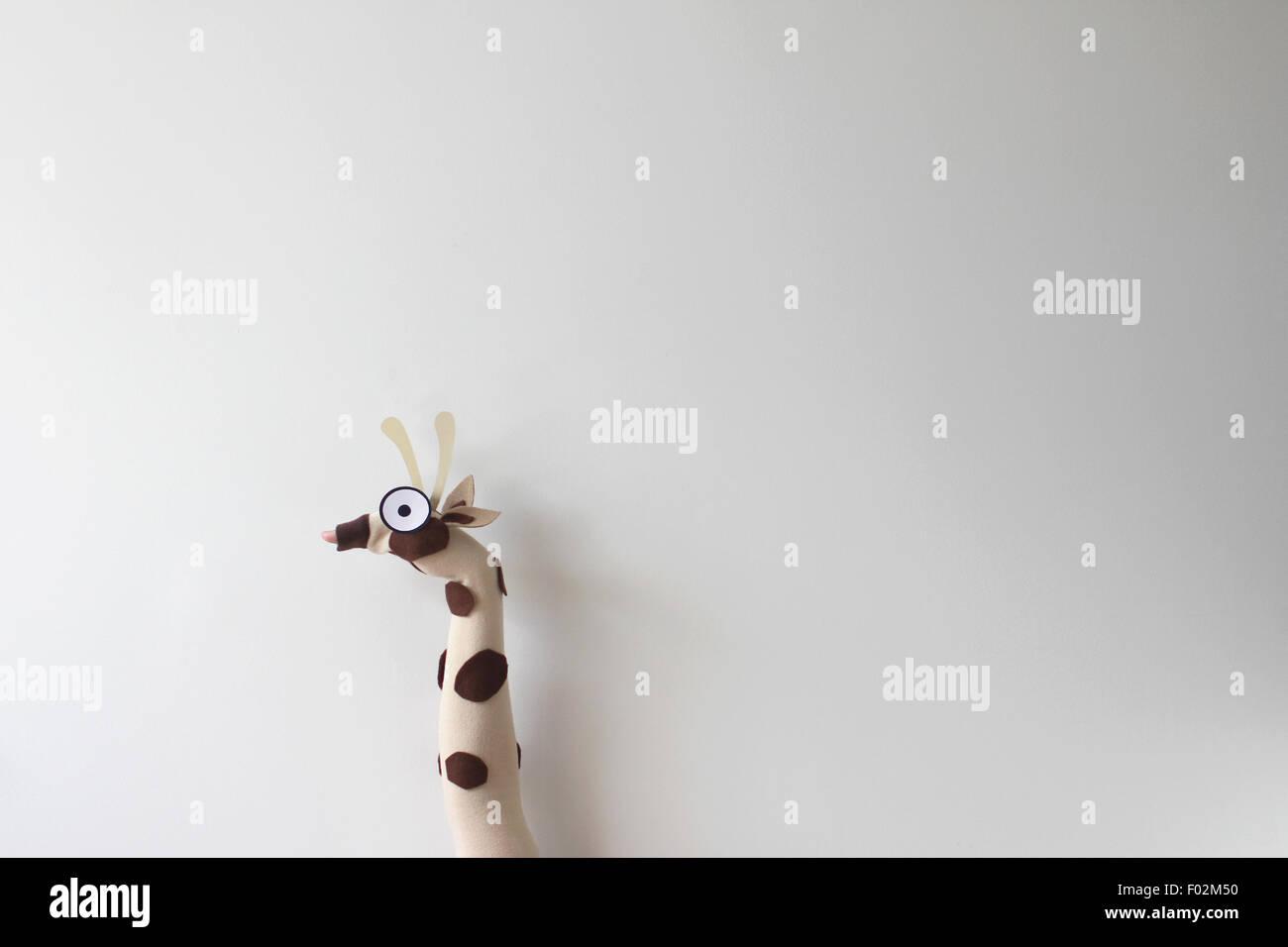 Giraffa marionette a mano Immagini Stock