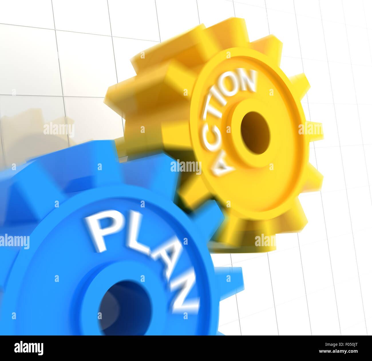 Piano e azione Immagini Stock