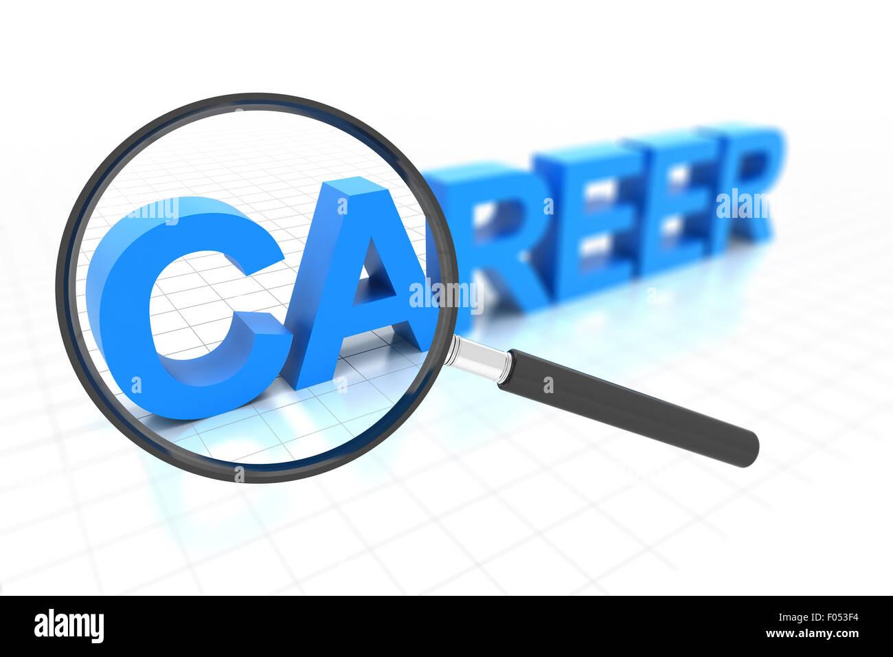 Cerca di cancellare il percorso di carriera Immagini Stock